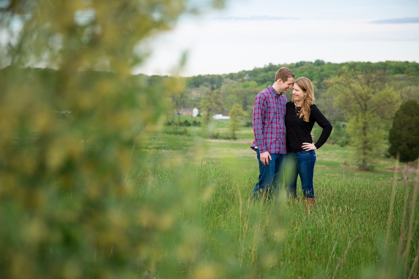 gettysburg field engagement photography