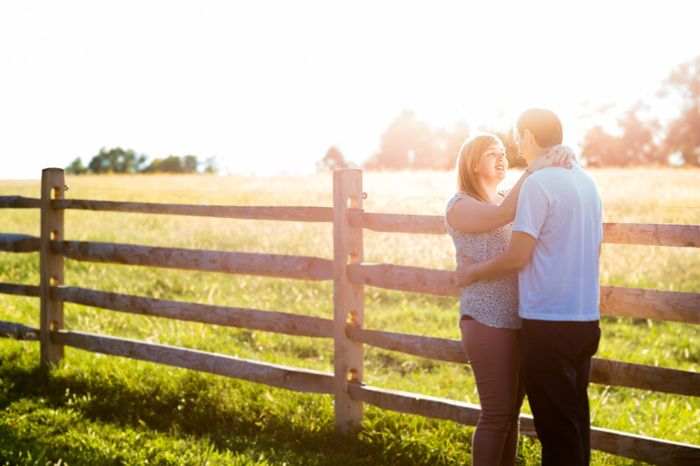 ironstone ranch field engagement photography