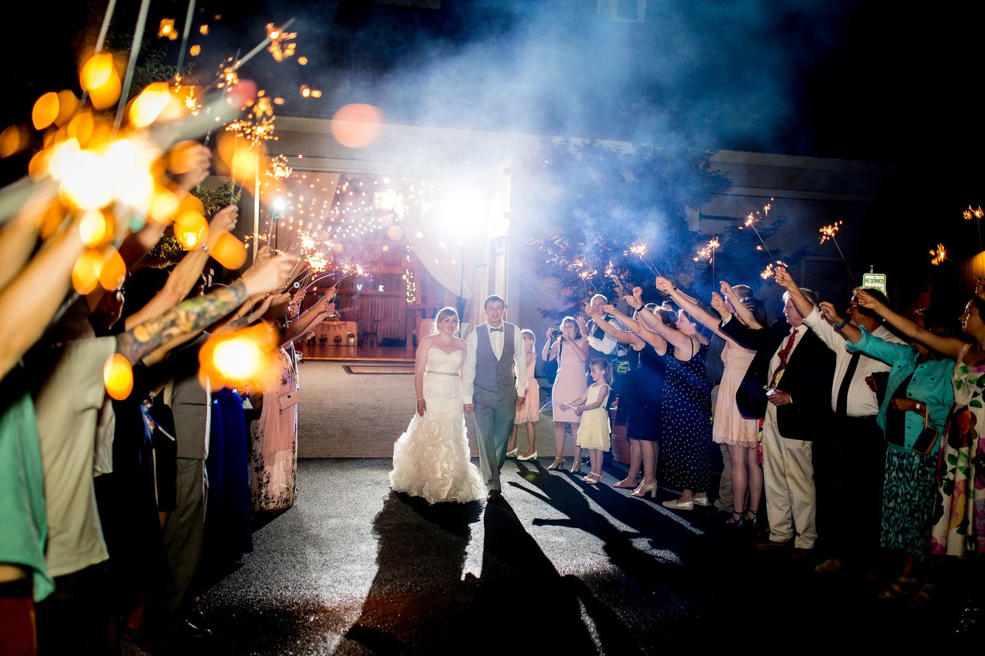 ironstone ranch sparklers wedding photography