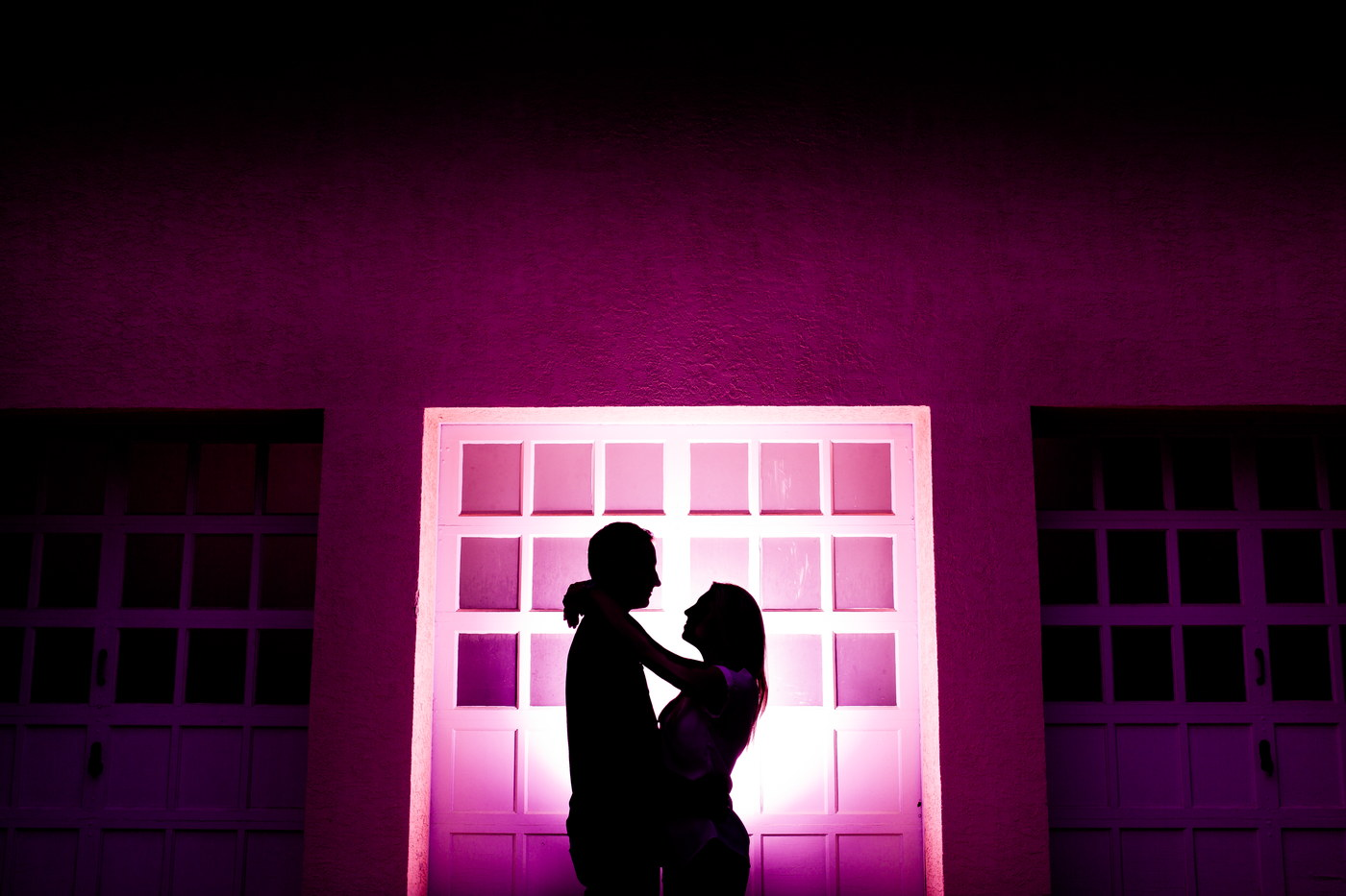 purple silhouette engagement